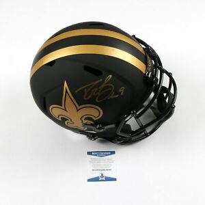 Drew Brees Signed Eclipse Full Size Helmet New Orleans Saints  Beckett Bas Coa