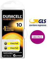 180 pile batterie per apparecchi acustici DURACELL ACTIVAIR mod. 10 PR70 gialle