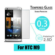 9H Premium Tempered Glass Screen Protector Film Guard Cover For HTC One M9