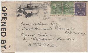 US: Censored Cover; Seattle & Seward to Laboratory, Princes Risoboro,28 Nov 1940