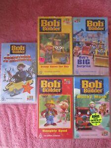 5 x Bob the builder VHS