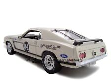 1969 FORD MUSTANG BOSS 302 WHITE RACER #04 1:24 MODEL CAR  UNIQUE REPLICAS 18658