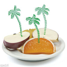 12 x Palm Tree Picks   Food   Cupcake   Hawaiian   Tropical Luau   Beach Party