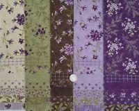 SWEET VIOLET Moda quilt fabric purple 36 piece Sample Set calico sew applique