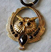 UPLIFTED_WINGS ~ OWL ~  BLACK _BELLY ~ NECKLACE -- (GREAT_CHRISTMAS_GIFT)
