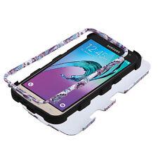 For Samsung Galaxy J3 J320 Hybrid ShockProof Protective Hard Case Cover Flower