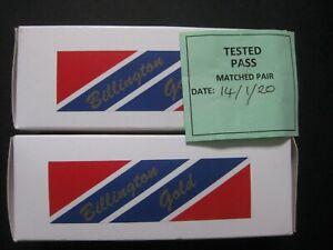BILLINGTON GOLD 6L6GC Valve/Tubes: Matched Pair Boxed & Tested
