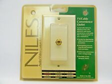NILES TV/Cable Convenience Outlet. Gold plated Connector. Model F-1D
