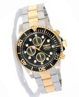 Invicta 1772 Men's Pro Diver Two Tone Black Dial Chrono Watch
