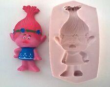 Stampo in silicone Troll Poppy Compleanno glassa Torta Cupcake Fimo