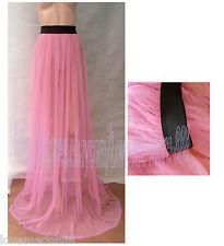 Sexy Womens Club Beach Sun See Through Maxi Long Skirt Dress One size Fit XL/XXL
