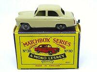 Matchbox Lesney No.30a Ford Prefect In Type 'B2' Series MOKO Box