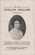 Eveline Phillips. London Press Notices,   ZE96