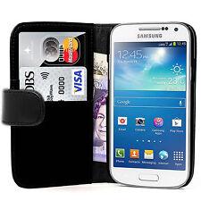 PORTAFOGLIO Nero in Pelle Caso del telefono con slot per schede per Samsung Galaxy Ace 3 Uk NEGOZIO
