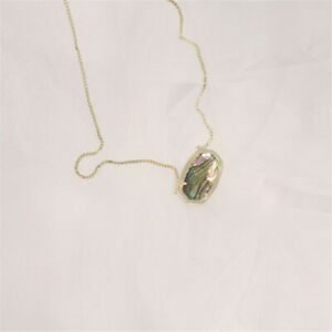 Kendra Scott Elisa Gold Pendant Necklace In Abalone Shell