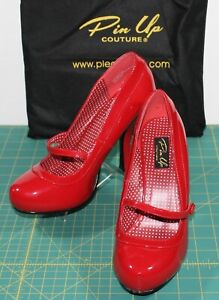 Pleaser Pin Up Couture Polka Dot Lined Mary Jane Pump Adult Women 8M CUTIEPIE02