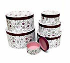 Decorative Round Purple Floral Home Office Storage Boxes Hat & Gift Box
