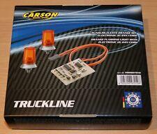 Carson 500907010/C907010 1:14 24x15mm Orange Flashing Lights (For Tamiya), NIB
