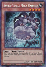 3x Yugioh LC5D-EN226 Super-Nimble Mega Hamster Secret Rare - 1st Edition