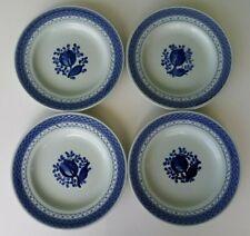Royal Copenhagen - Tranquebar (Blue) - Salad Plates - Set Of 4 - Denmark