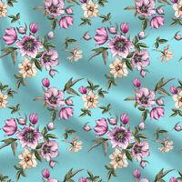 Bedruckter Baumwollstoff Floral Sewing Fabric zum Nähen Scrapbooking Quilten 44