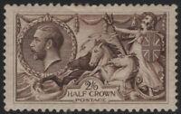 1918 KGV SG415 2s6d Reddish-Brown N65(4) Bradbury Wilkinson MH OG CV £160