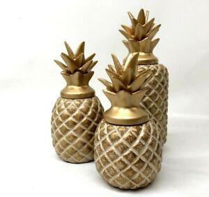 Special Modern Home Decor Golden Pineapple for Living Room Decoration