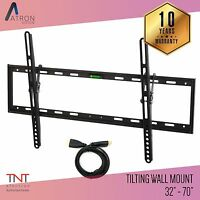 LCD LED PLASMA FLAT TILT TV WALL MOUNT BRACKET 32 37 42 46 50 52 55 57 60 65 70