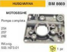 POMPA OLIO COMPLETA MOTOSEGA HUSQVARNA 254 257 262 codice: 503.1673.01