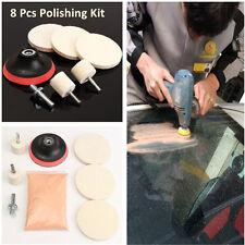 8Pcs Glass Scrach Remover With 8 OZ Cerium Oxide Powder Polishing Kits Universal