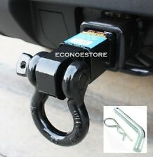 """Heavy Duty 10,000 LBS 3/4""""  D-Ring Tow Hitch 2"""" Solid Shank Receiver Hitch + Pin"""