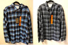 NEW!! Weatherproof Men's Vintage Button Down Long Sleeve Plaid Shirts