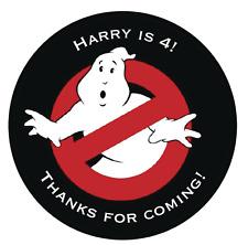 24 Borsa Festa Di Compleanno   Cono dolce   grazie Adesivi   Ghostbusters