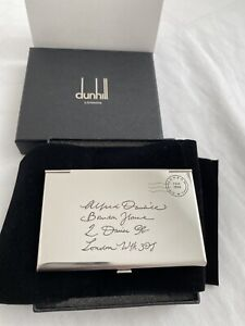 Alfred Dunhill Card Case Envelop Silver Limited Edition