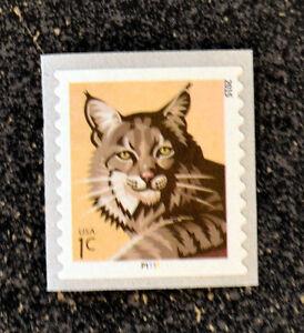 2015USA  #4672a  1c  Bobcat  Coil  Plate Number Single  PNC  Mint  NH