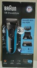 Braun S3 Shave & Style 3-in-1 3010BT Wet & Dry Rechargeable Shaver 069055880234