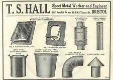 1926 Ts Hall Sheet Metal Worker Engineer Bristol Old Advert