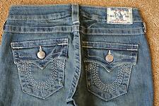 TRUE RELIGION SKINNY 25X33 Jeans NWOT$249 Sexy Distressed! Stretch! Flap Pockets