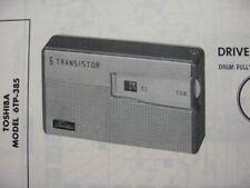 TOSHIBA 6TP-385 TRANSISTOR RADIO PHOTOFACT