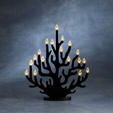 Konstsmide 2488-700 LED Leuchter Acryl Kerzenleuchter Korallen schwarz 29x34cm