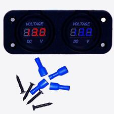 Dual Battery Monitor Volt Meter LED 12v 24v for Redarc ARB CTek Projecta R&BLU