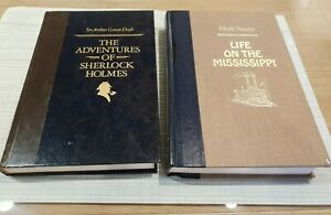 X2 | Readers Digest Hardcover | Life on the Mississippi | Sherlock | Twain Doyle
