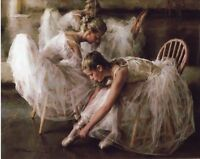 ZWPT145 Home deco art dancing hand-painted ballerina girls oil painting canvas