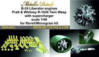Metallic Details MDR4803 - 1/48 - B-24 Liberator. Engines (Revel/Monogram)