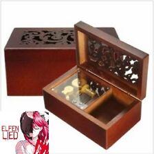 Solid Wood Miniature Hollow Music Box Jewelry Box: Elfen Lied - Lilium