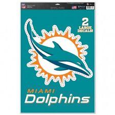 "Miami Dolphins 11"" x 17"" Multi Use Decals - Auto, Walls, Windows, Cornhole"