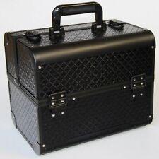 Luxury Black Cosmetic Organizer Lattice Pattern Makeup Organizer Make Up Box