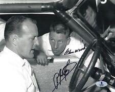 A.J. FOYT & GLEN WOOD DUAL SIGNED 8x10 PHOTO AUTO RACING LEGENDS BECKETT BAS