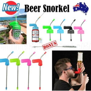 New Beer Snorkel Funnel Drinking Straw Games Hens Bucks Party Entertainment OZ