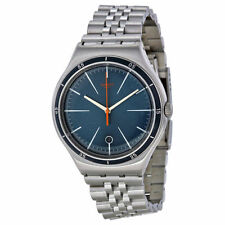 Swatch Stainless Steel Band Casual Round Wristwatches